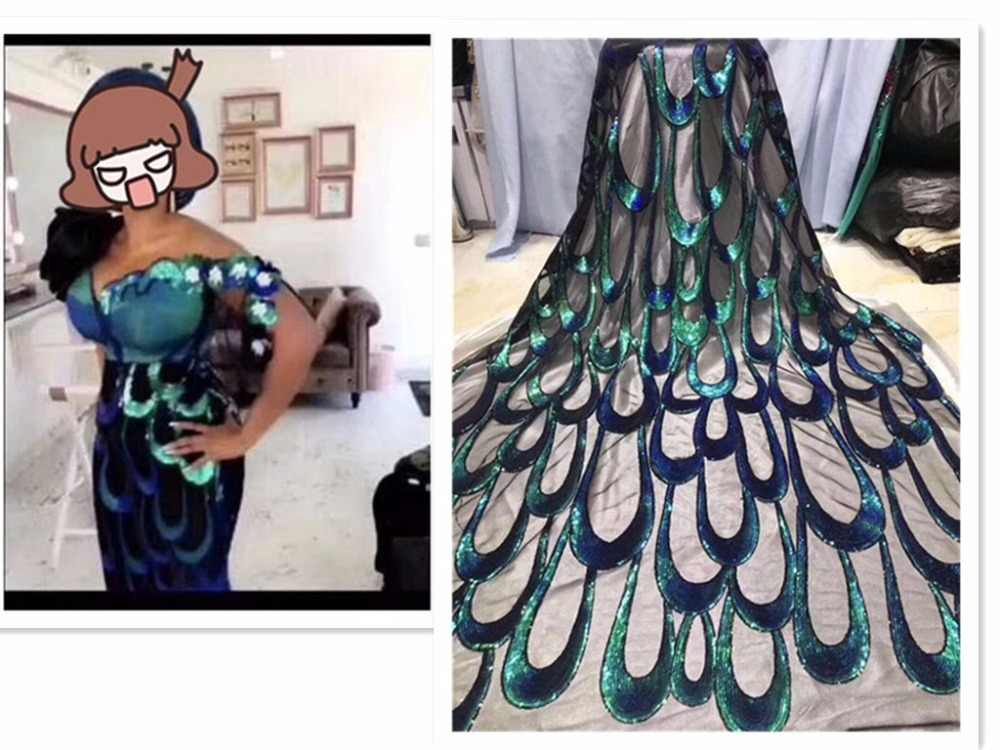 Африканская французская кружевная ткань высокого качества 2019 Новое поступление nary blue sequin кружевная ткань вышитое Сетчатое кружево ткань! красное золото