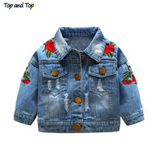 Top and Top children jackets Kids Girls Embroidery Coats Jackets Long Sleeve Girls Clothing Outerwear Coats Jackets flower cheap Outerwear Coats Turn-down Collar Oxford Full Print Fashion REGULAR COTTON s0072 Fits smaller than usual Please check this store s sizing info