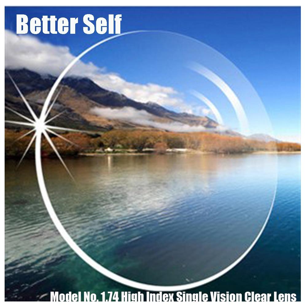 1.74 High Index ASP Single Vision Clear Aspheric Thin Prescription RX Free Lenses Cut Frame Fitting Service