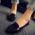 2016 New Summer Style Woman Shoes Leather Women Shoes Flats Buckle Loafers Slip On Women Flat Shoes boat shoes