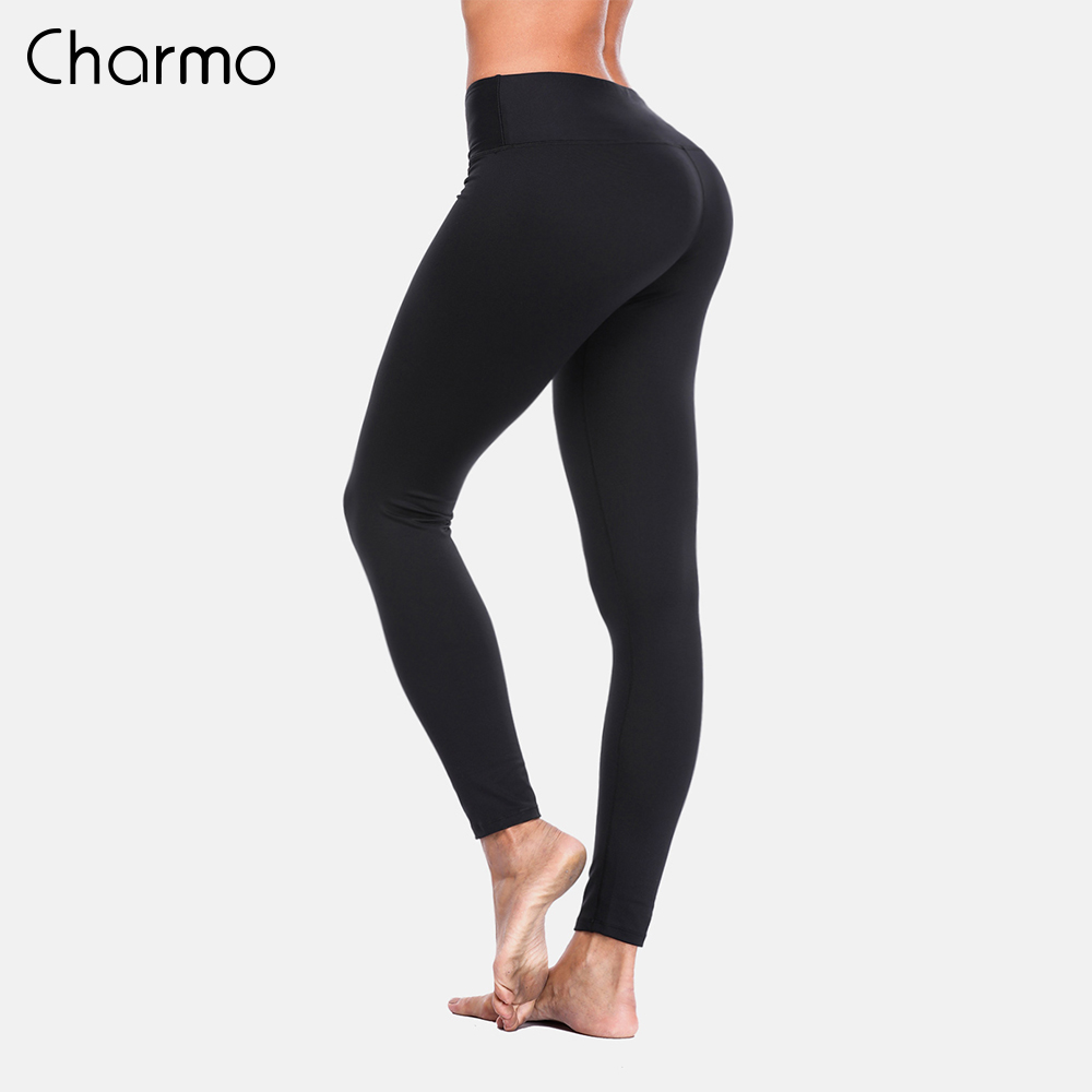 Charmo Women Yoga Pants Slim High Waist Sports Gym Fitness Elastic Trousers Running Breathable Knit