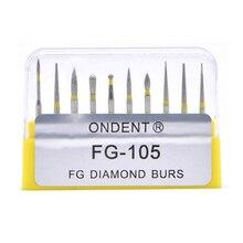 Dental Diamant Bohrer Bohrer Dental Burs Dia bohrer für High Speed Handstück Medium FG105 106 Dental Werkzeuge Zahnmedizin Labor