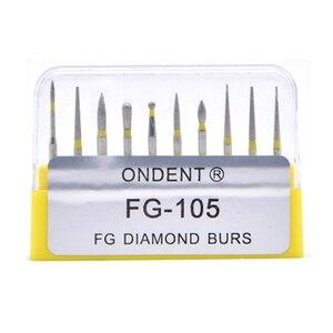 Image 1 - Dental elmas uç matkap diş Burs Dia Burs yüksek hızlı el aleti orta FG105 106 diş araçları diş hekimliği Lab