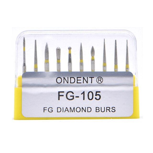 Dental elmas uç matkap diş Burs Dia Burs yüksek hızlı el aleti orta FG105 106 diş araçları diş hekimliği Lab