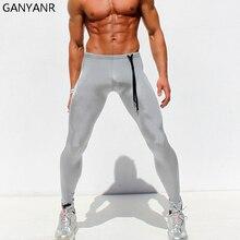 Ganyanr бренд Колготки Для мужчин Спортивные штаны Йога Леггинсы для женщин сжатия спортивные тренировки быстросохнущая спандекс Мотобрюки зиму