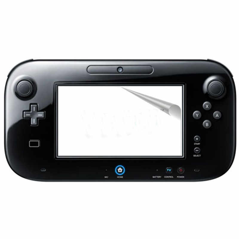 3 PCS Screen Protector For Wii U Controller Anti-Glare LCD Skin Clear Film Cover for WiiU Gamepad