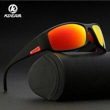 KDEAM Marke männer Polarisierte Sonnenbrille TR90 Rechteck Beschichtung Fahren Gläser Sport Brille Gafas De Sol KD111