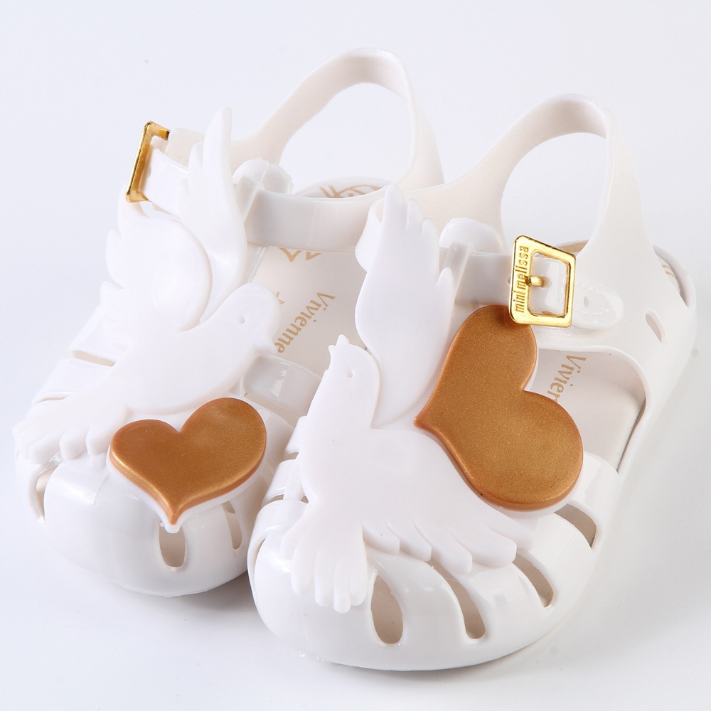 mini melissa summer Sandals Boys Girls Shoes cartoon animals kids casual shoes canday smell Sandals Non-Slip footwear zapatos