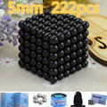 Retail Black 5mm 216pcs Buck yballs Neo cube Magic Cube Puzzle Magnetic Magnet Balls Spacer Beads Xmas Gift Magico Metal Box