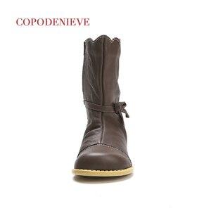 Image 4 - COPODENIEVE kış sıçrama su geçirmez kız çizmeler kayak bezi sıcak kar botları çocuk Boys, polar çocuk ayakkabı kızlar anne kızı
