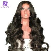 Луффи объемная волна 5x4,5 шелк базы Full Lace натуральные волосы парики с волосами младенца бразильский не Реми предварительно сорвал волос 130% п