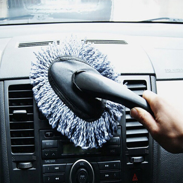 Car Dust Cleaning Brush Super Soft Microfiber Car Dash Duster Car Interior  Cleaning And Home Use