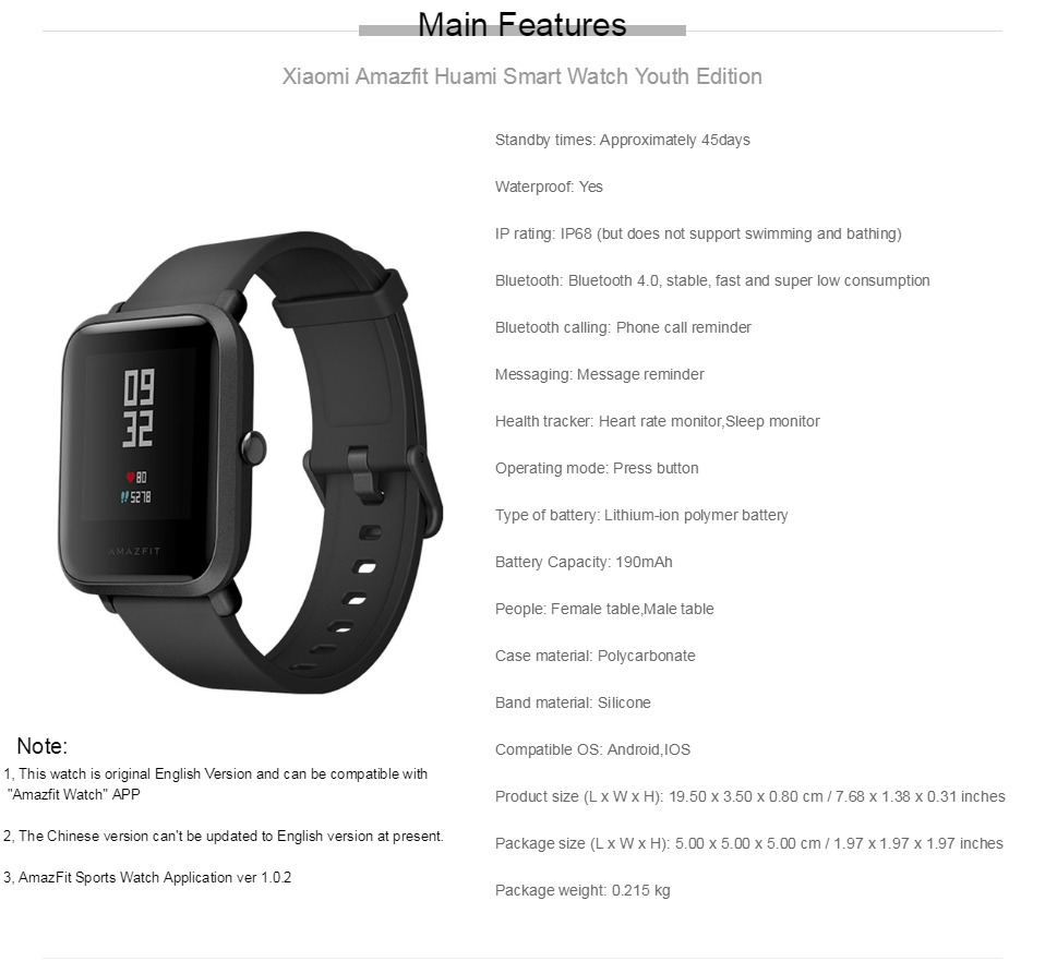Comprar Reloj inteligente Xiaomi huami amazfit