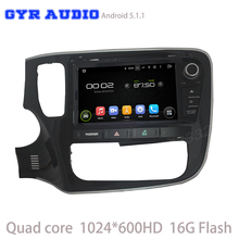 Quad core android 5.1 Автомобиль dvd GPS для Mitsubishi outlander 2013 2014 2015 2016 с GPS WIFI 3 Г usb зеркало ссылка 1024*600 экран