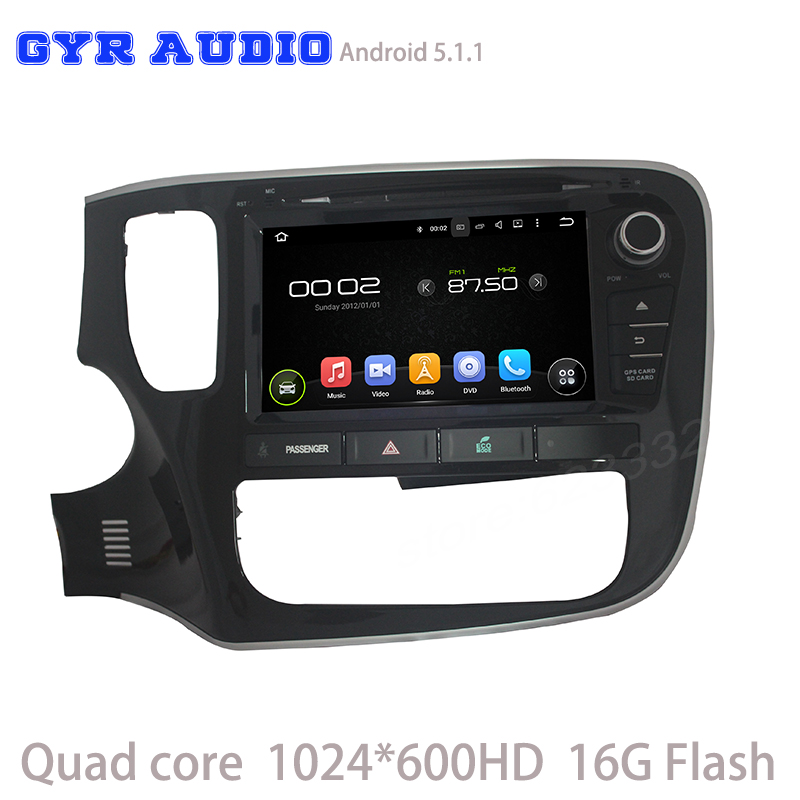 Quad core font b android b font 5 1 Car dvd GPS for Mitsubishi outlander 2013