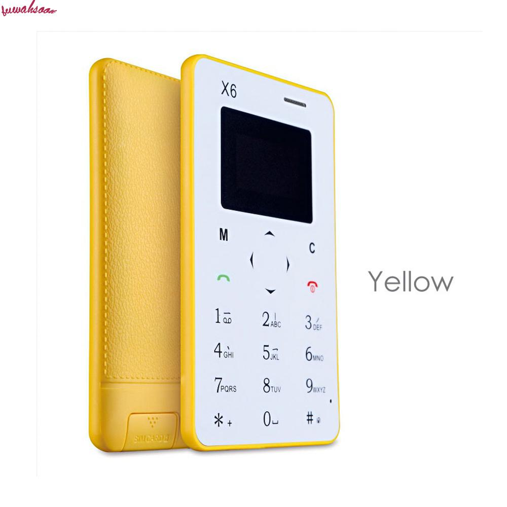 new arrival ultra thin aiek  aeku x6 mini cell card phone