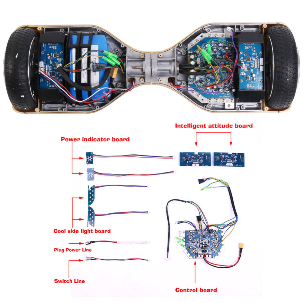 Replacement 2 Wheels Self Balancing Scooter Parts Hoverboard Part Pcb Circuit Board Control Universal Motherboard Controller For 65 8 10 With Gyroscope In Skate From Sports