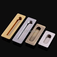HOT 10PCS European Hidden Embedded Kitchen Door Furniture Handles Cupboard Wardrobe Drawer Cabinet Invisible Pulls Handles&Knobs