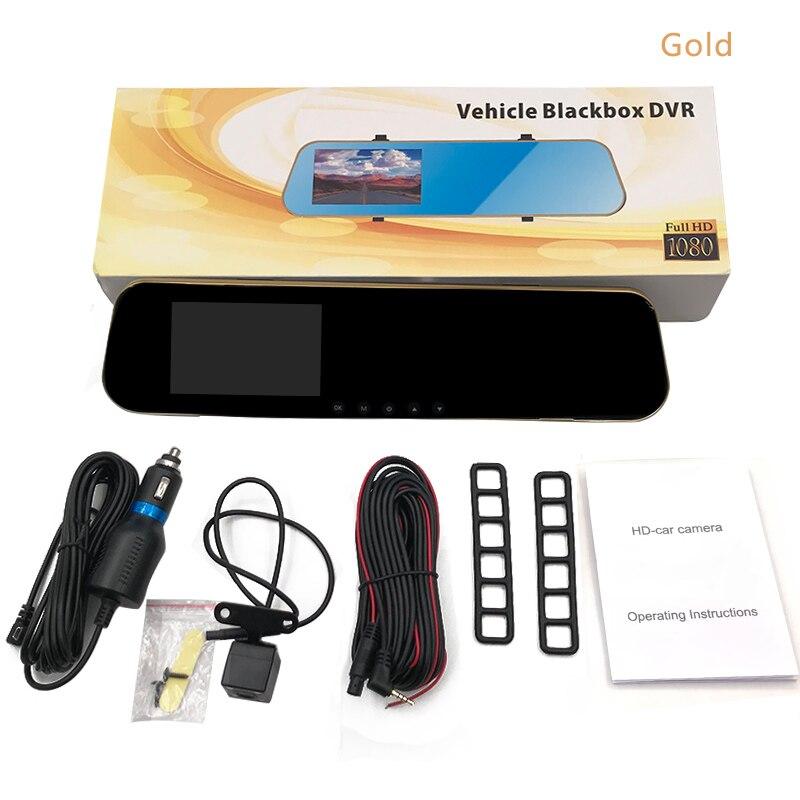 4.3 1080P Dual Lens Car DVR Rear View Mirror Video Recorder Dual Cam Reversing Camera,Dash Cam Camera High Quality