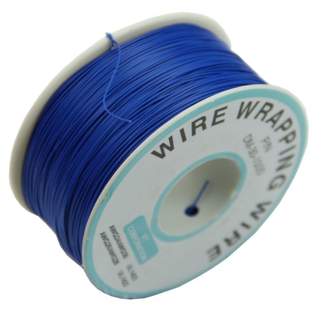 MYLB-0.25mm Wire-Wrapping Wire 30AWG Cable 305m New (Blue) 1pcs new wire wrap strip unwrap tool wsu 30m awg 30 prototyping wrapping