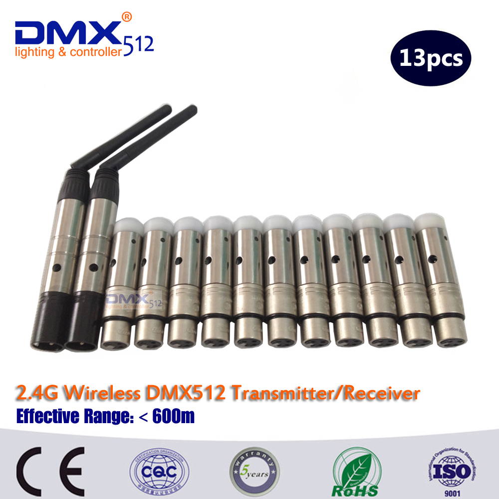 DHL Free Shipping 13pcs/LOT  wireless dmx512 transmitter and receiver 20pcs lot free shipping 433mhz wireless