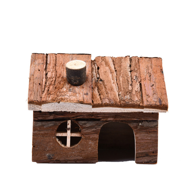 Two-story Wooden smokestack House Exquisite House Chimney for Hamster squirrel Guinea pig Chinchilla Fragile goods hamster toys