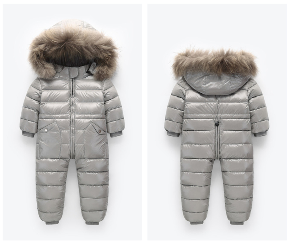 -30 Russian Winter Snowsuit 2020 Boy Baby Jacket 80% Duck Down Outdoor Infant Clothes Girls Climbing For Boys Kids Jumpsuit 2~5y