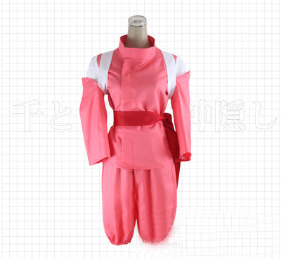 Japanese Anime Movie Spirited Away Chihiro Cosplay Costumes Girls Cute Pink Kimono role play fancy dress for Woman Style