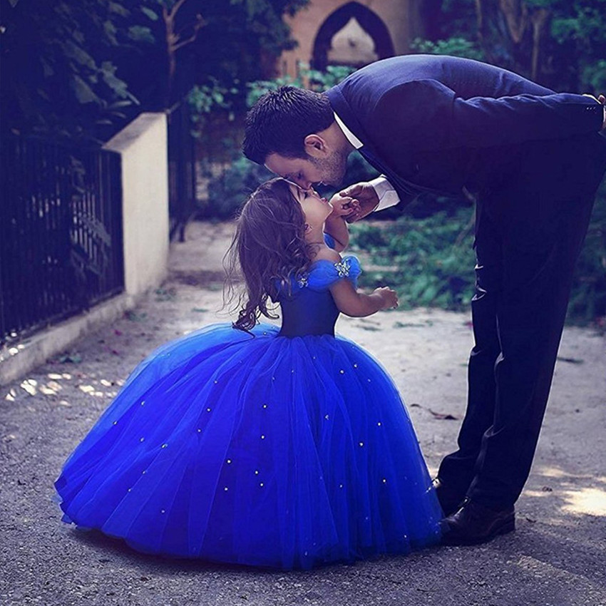 Luxury Princess Christmas Cinderella New Year Party Dresses Baby Kids Ball Gown Birthday Gift Children Toddler Dress for Girls