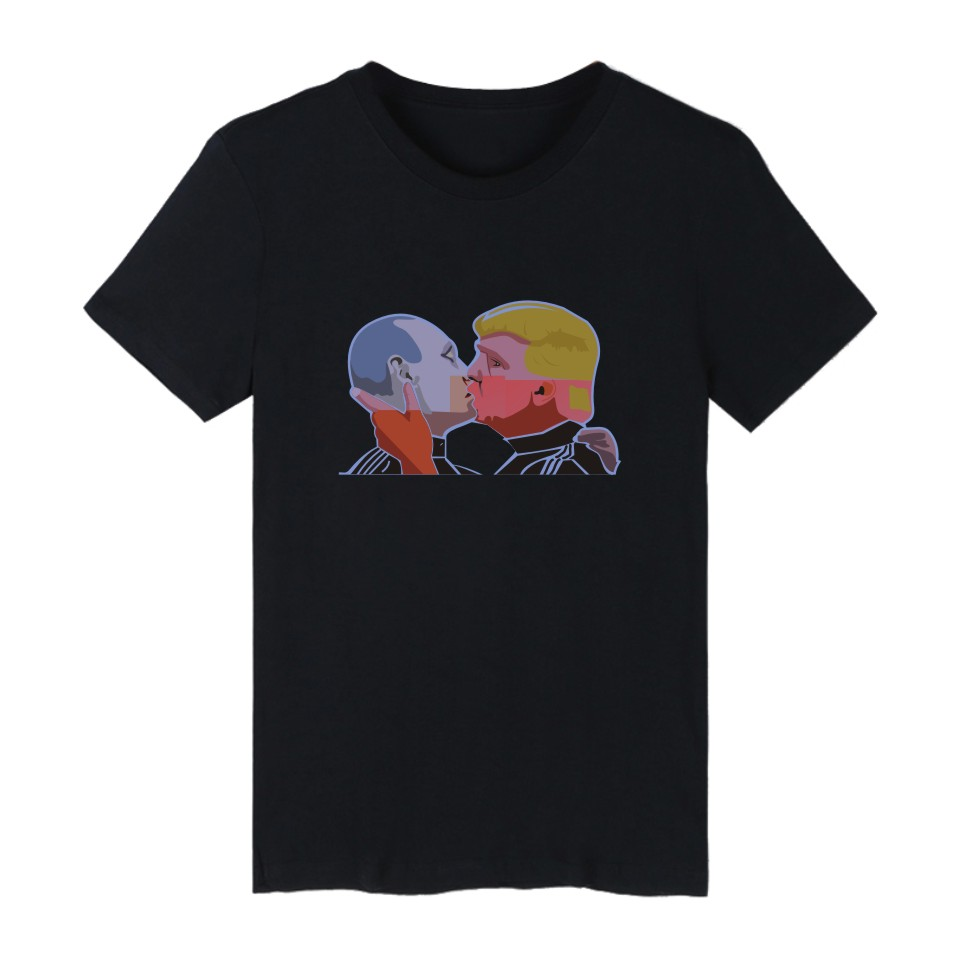 donald trump and putin t shirts cotton summer short sleeve. Black Bedroom Furniture Sets. Home Design Ideas