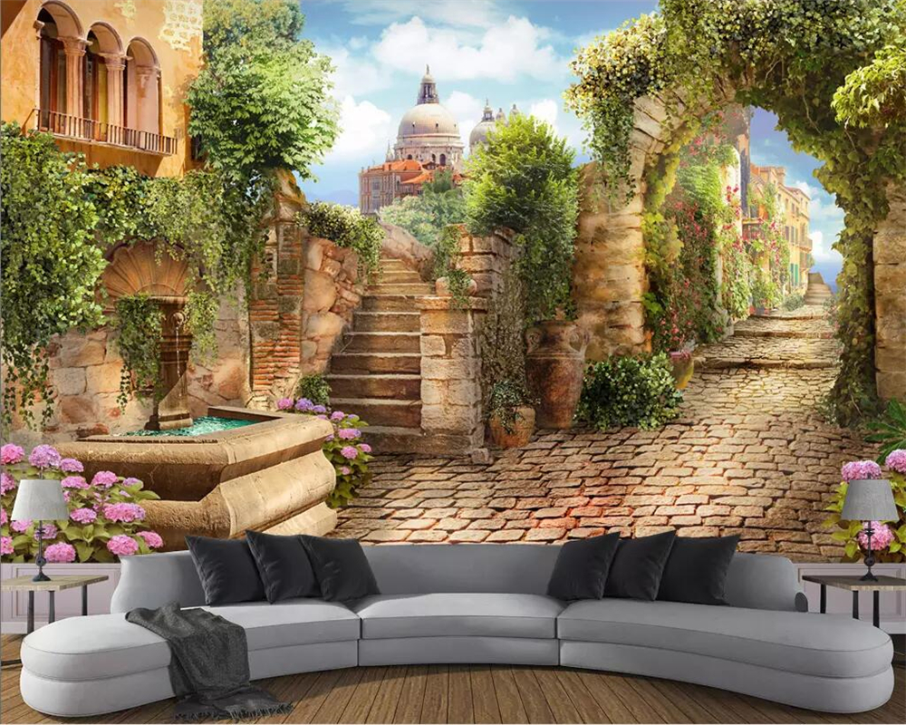 Beibehang Tapete Nach Foto Ultra Hd Alley Straße Landschaft 3d Hintergrund Wand Wohnzimmer Dekoration Tapete Wandbild View 3d Nonwoven Wallpaperwallpaper Painting Aliexpress