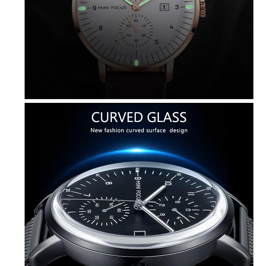 HTB1ARv cr3nBKNjSZFMq6yUSFXaQ MINI FOCUS Mens Watches Top Brand Luxury Quartz Watch Men Calendar Bussiness Leather relogio masculino Waterproof reloj hombre