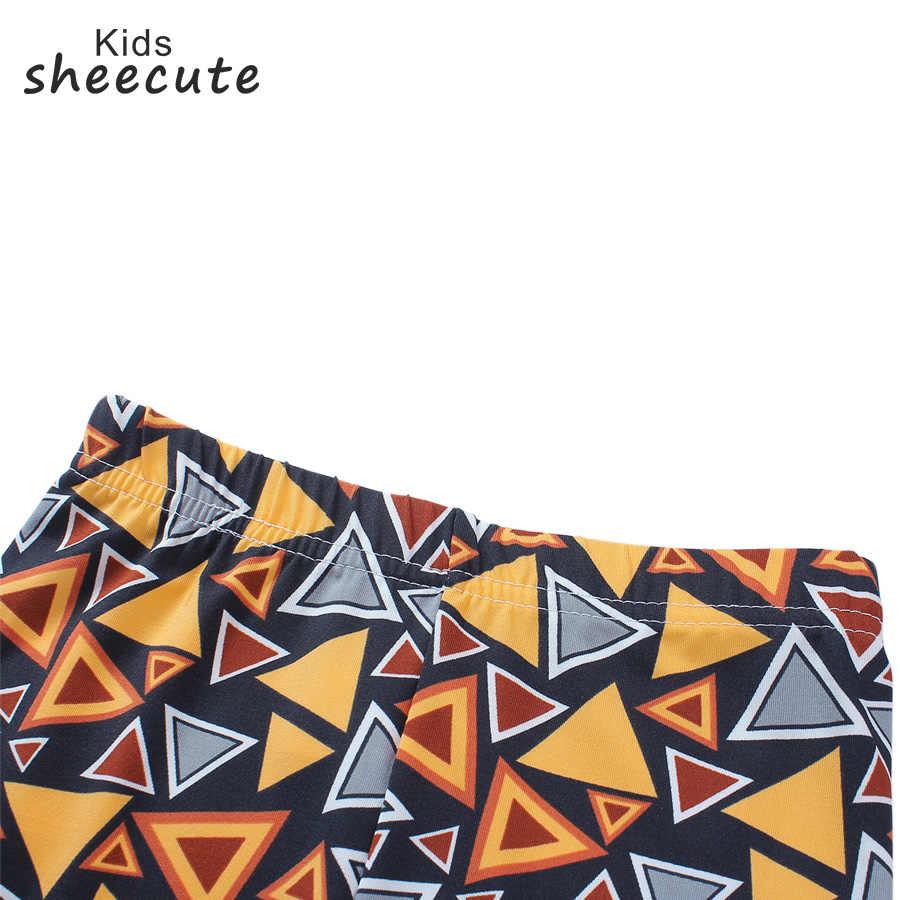 Sheecute กางเกงเล็กกิ้งหญิงพิมพ์กางเกงขายาวเด็กผู้หญิงเสื้อผ้าเด็กพิมพ์ดอกไม้ Skinny leggings SC1752