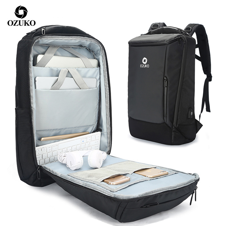 Large Capacity Business Mens Travel Backpack USB Charging Waterproof 17 3 Inch Male Laptop Bag Fashion