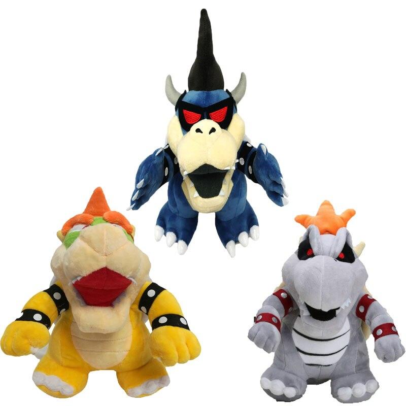"3Pcs/Set Plush Toys Super Mario Bros Bowser Koopa Kuba Dragon Dark Bowser Stuffed Doll Soft Plush Doll Gift For Children 10-11"" 1"