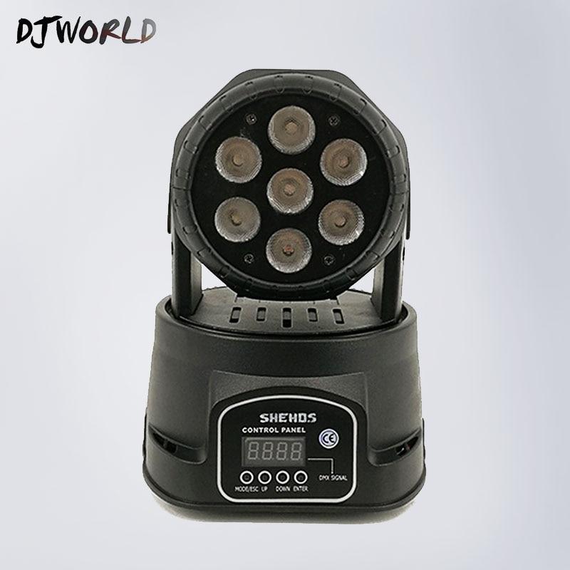 7x18W RGBWA+UV 6in1 LED Stage Light Moving Head Beam Party Light DMX-512 Led Dj Xmas Christmas Sound Active DMX Disco Light pro svet light psl led uv 18 dmx