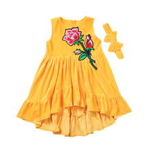 3881a52e03da6 Buy velvet yellow dress and get free shipping on AliExpress.com