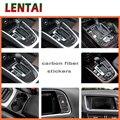 LENTAI Auto Car fibra de carbono al por mayor Gear Shift Knob Panel Trim Sticker para Audi A4 B6 C5 B8 B7 B5 a5 Q5 2012-2016 Accesorios