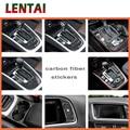LENTAI Auto Carbon Fiber Groothandel Pookknop Panel Trim Sticker Voor Audi A4 B6 C5 B8 B7 B5 a5 Q5 2012-2016 Accessoires