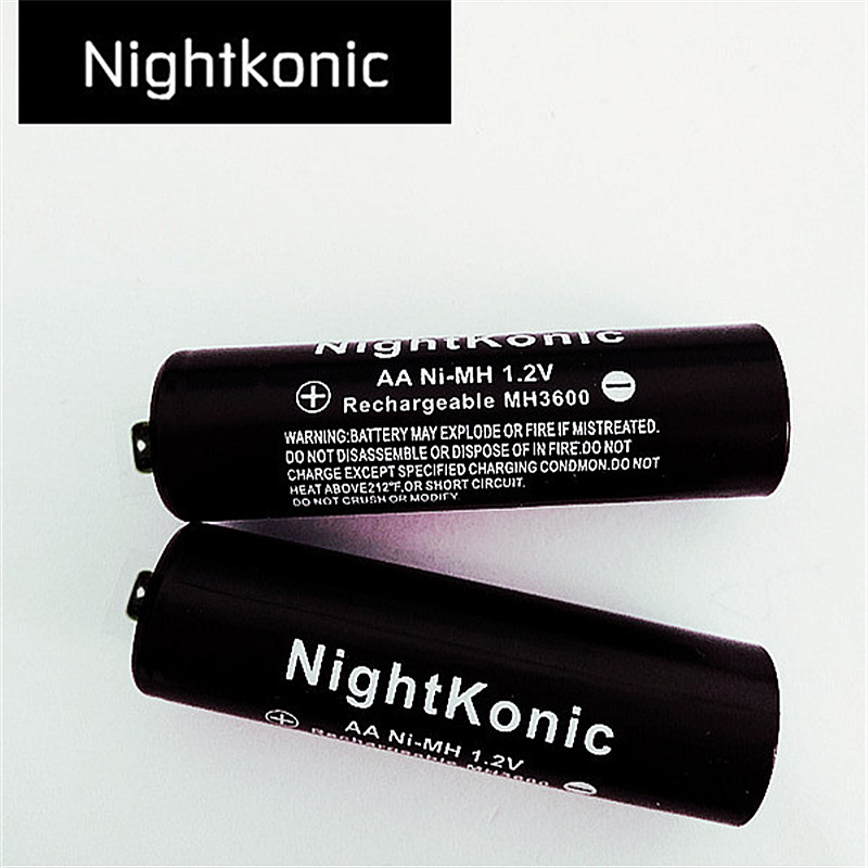 6 X aa battery NightKonic 1 2V NI MH AA Rechargeable Battery BLACK in Replacement Batteries from Consumer Electronics
