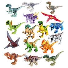 купить Jurassical World Dinosaurs Figures Movie Building Blocks Models Building Toys Gift Best Gifts For Children по цене 551.73 рублей