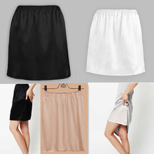 Mini Skirt Petticoat Satin Women ZJM9040 Half-Slip