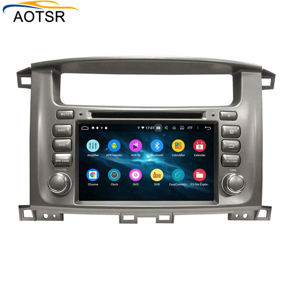 DSP 4+64 <font><b>Android</b></font> 9.0 Car DVD Stereo Multimedia <font><b>head</b></font> <font><b>unit</b></font> For TOYOTA LC100 1998-2007 BT Radio GPS Navigation Video Audio wifi MAP image