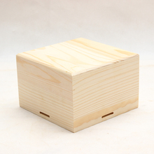 Square solid wood wooden gift heaven and earth cover storage box wooden box gift wood box packaging box customize