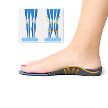2019 Orthopedic InsolesFlatfoot Orthotics Cubitus Varus Orthopedic Foot Pad Care Insole Unisex Deodorant Insole(China)