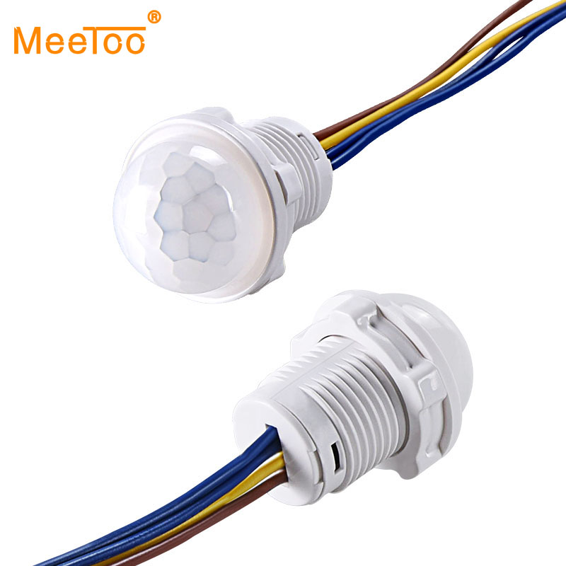 Mini Closet PIR Sensor Detector Smart Switch 110V 220V LED PIR Infrared Motion Sensor Detection Automatic Sensor Light Switch