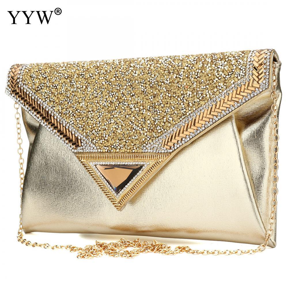 3d3ce5c0c024 Luxury Women Bags Evening Party Bag with Rhinestone for Female Black  Envelope Clutch Bag PU Leather Handbag Brand Crossbody Bag