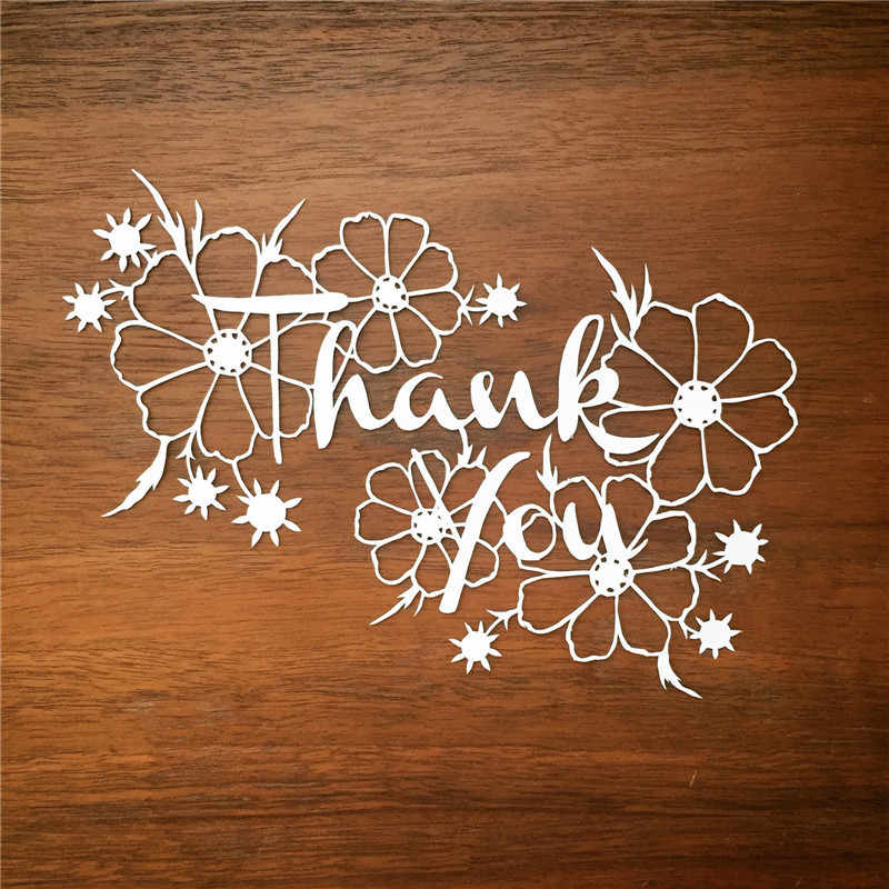 GJCrafts Thank You Letter Dies Metal Cutting Dies for Scrapbooking Die Cut Stitch Craft Dies Troqueles New Die for 2019 Stencil