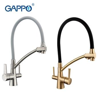 GAPPO filtro de agua grifos de cocina grifo mezclador grifo grifos de cocina mezclador fregadero grifos de purificador de agua de grifo de cocina grifo de agua filtrada