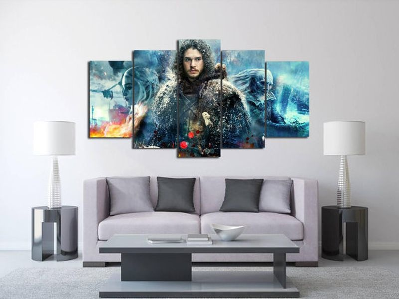 2017 JIE DO ART 5Panels Art Canvas Print Game of Thrones Posters Wall Home Decor interior (No Frame)